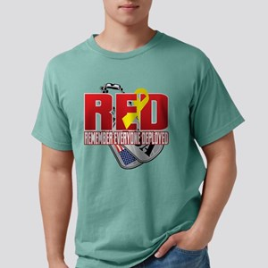 RED: Dog Tags Mens Comfort Colors Shirt
