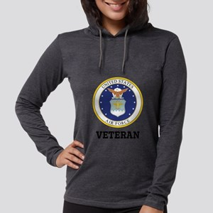 Personalized Air Force Veteran Womens Hooded Shirt