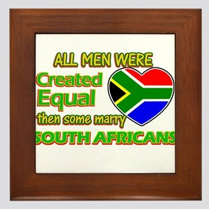 South African wife designs Framed Tile
