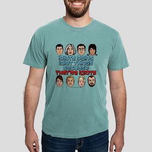 Archer Idiots Light Mens Comfort Colors Shirt