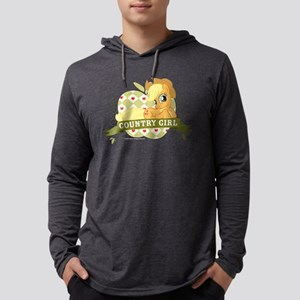 MLP Applejack Country Girl Dark Mens Hooded Shirt