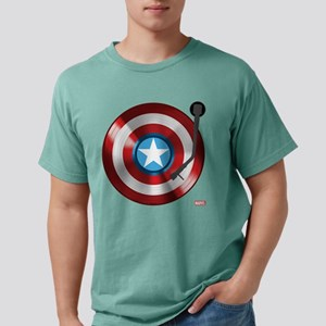 Captain America Vinyl Sh Mens Comfort Colors Shirt