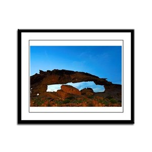 Framed Panel Print : Sunset Arch N30