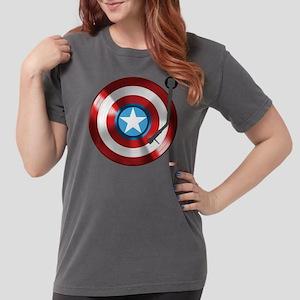 Captain America Vinyl  Womens Comfort Colors Shirt