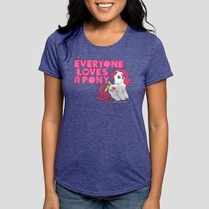 MLP Retro Everyone Loves  Womens Tri-blend T-Shirt