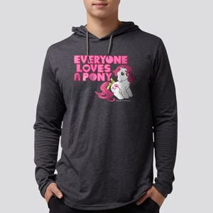 MLP Retro Everyone Loves A Pony  Mens Hooded Shirt