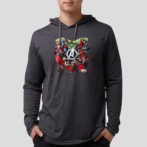 AvengersGroup dark Mens Hooded Shirt