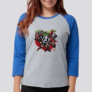 AvengersGroup dark Womens Baseball Tee
