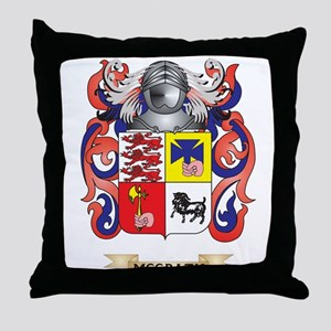 McGrath Coat of Arms - Family Crest Throw Pillow