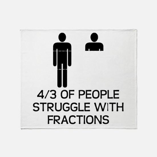 Math Humor Throw Blanket