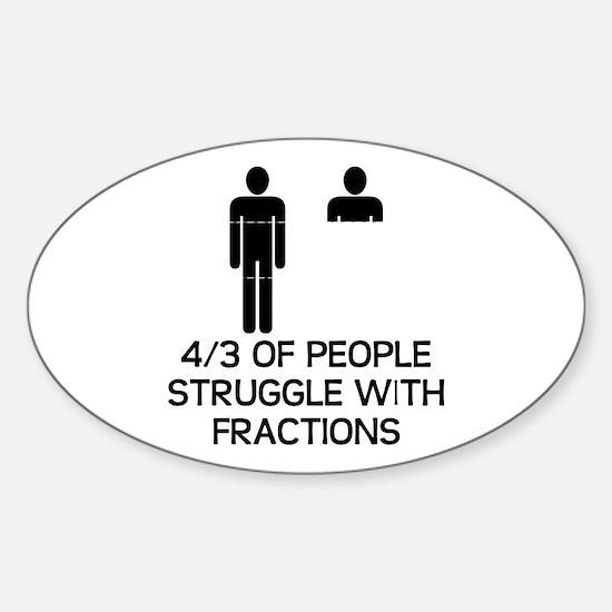 Math Humor Sticker (Oval)