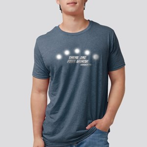 Star Trek FOUR LIGHTS Mens Tri-blend T-Shirt
