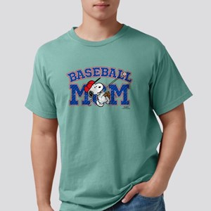 Snoopy Baseball Mom Mens Comfort Colors Shirt
