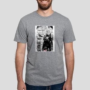 Punisher Skull Typography Mens Tri-blend T-Shirt
