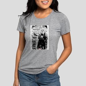 Punisher Skull Typography Womens Tri-blend T-Shirt