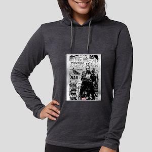 Punisher Skull Typography Womens Hooded Shirt