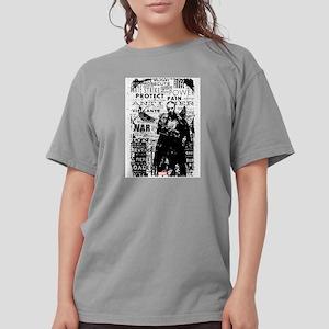 Punisher Skull Typogra Womens Comfort Colors Shirt