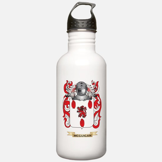 McGuigan Coat of Arms - Family Crest Water Bottle