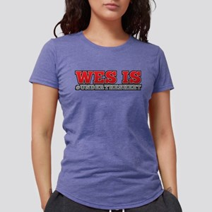 Wes is Under The Sheet  Womens Tri-blend T-Shirt