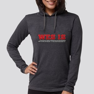 Wes is Under The Sheet  Womens Hooded Shirt