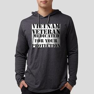 Vietnam Veteran Medicated For Yo Mens Hooded Shirt