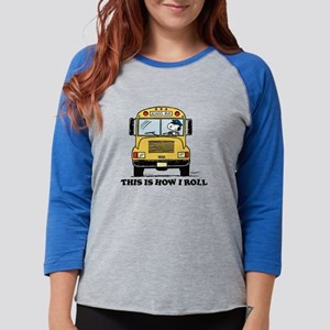 Snoopy - This Is How I Roll Womens Baseball Tee