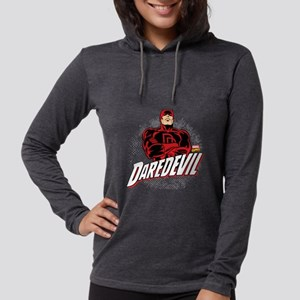 Daredevil Comic with Arms Cros Womens Hooded Shirt