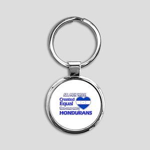 Hondurans wife designs Round Keychain