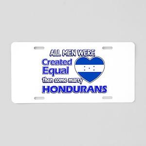 Hondurans wife designs Aluminum License Plate
