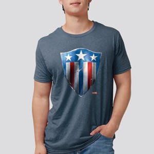 Captain America Retro Shiel Mens Tri-blend T-Shirt