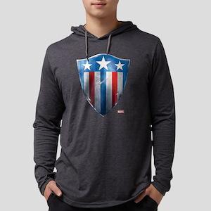 Captain America Retro Shield Mens Hooded Shirt