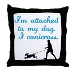 I Canicross Throw Pillow