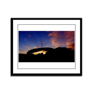 Framed Panel Print Sunset Arch #19
