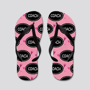 452a4c4281cea0 Gymnastics Coach Flip Flops - CafePress