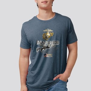 USMC Marines 2012 003 Mens Tri-blend T-Shirt