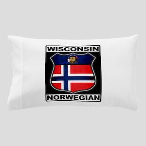 Wisconsin Norwegian American Pillow Case