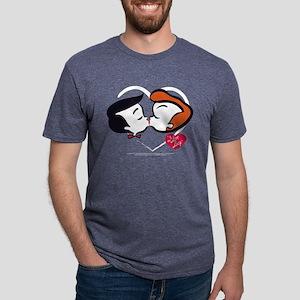 I Love Lucy: Stick Heads Ki Mens Tri-blend T-Shirt