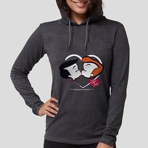 I Love Lucy: Stick Heads Kiss  Womens Hooded Shirt