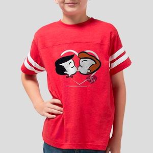 I Love Lucy: Stick Heads Kiss Youth Football Shirt