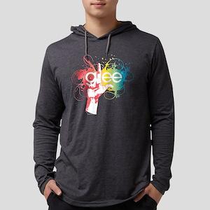Glee Splatter Dark Mens Hooded Shirt