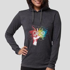 Glee Splatter Dark Womens Hooded Shirt