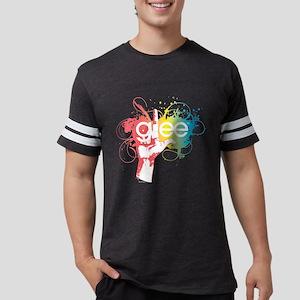 Glee Splatter Dark Mens Football Shirt