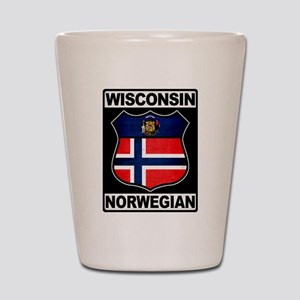 Wisconsin Norwegian American Shot Glass