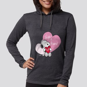 Snoopy - Hugs and Kisses Womens Hooded Shirt