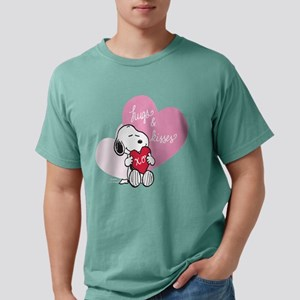 Snoopy - Hugs and Kisses Mens Comfort Colors Shirt