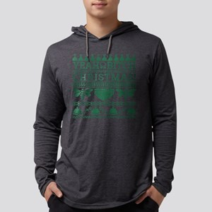 Yeah Bitch Christmas Green Mens Hooded Shirt