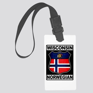Wisconsin Norwegian American Luggage Tag
