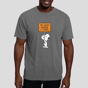 Peanuts The Great Pumpki Mens Comfort Colors Shirt