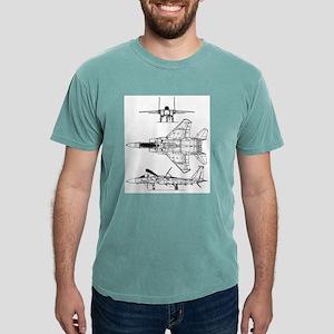 F-15 Schematic Mens Comfort Colors Shirt