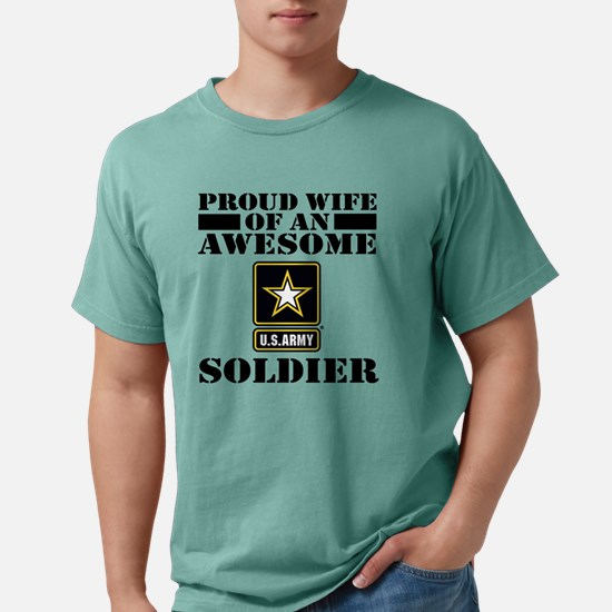 armyawesomewife Mens Comfort Colors Shirt